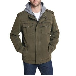 Levi's green hooded jacket
